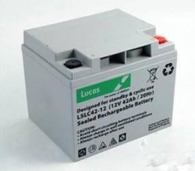 12V 42AH Lucas Mobility Battery-AGM Technology