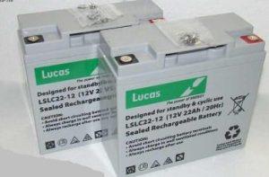 22AH LUCAS VAT FREE Batteries x2