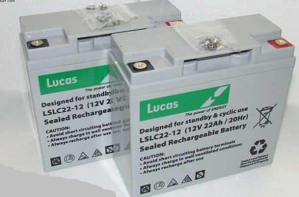 Bruno-Club Models-Typhoon-12V 22AH LUCAS Mobility Batteries x 2