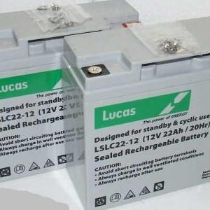 12V 22 Ah batteries x 2-Lucas Batteries